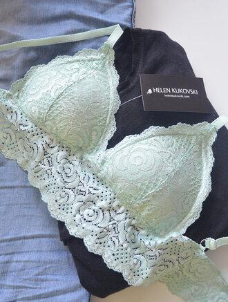 underwear lace bralette padded bra bralette mint padded bralette