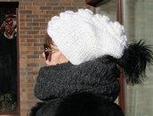 hat,pom pom beanie,knitted hat,women knit hat,women beanie,women pom pom hat,teen beanie,white hat,aplaca hat,alpaca beanie,beanie chunky hat,knit wool hat,warm knit beanie,chunky hat