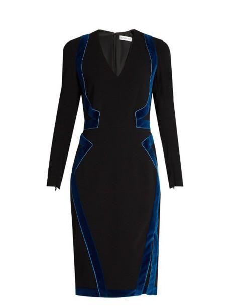 ALTUZARRA Becca velvet-panel dress in black