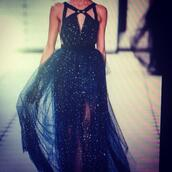 dress,glitter,cropped,glitter navy blue dress