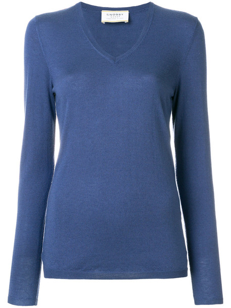sweater women blue silk