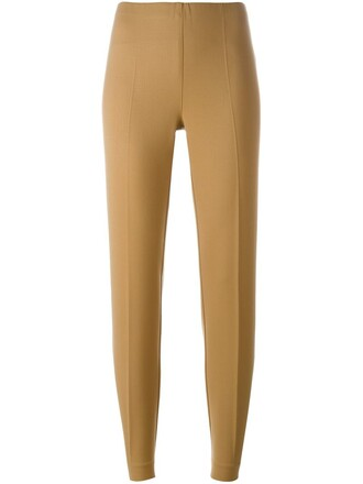 women spandex nude wool pants