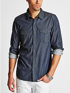 Men's Denim Shirts | GUESS