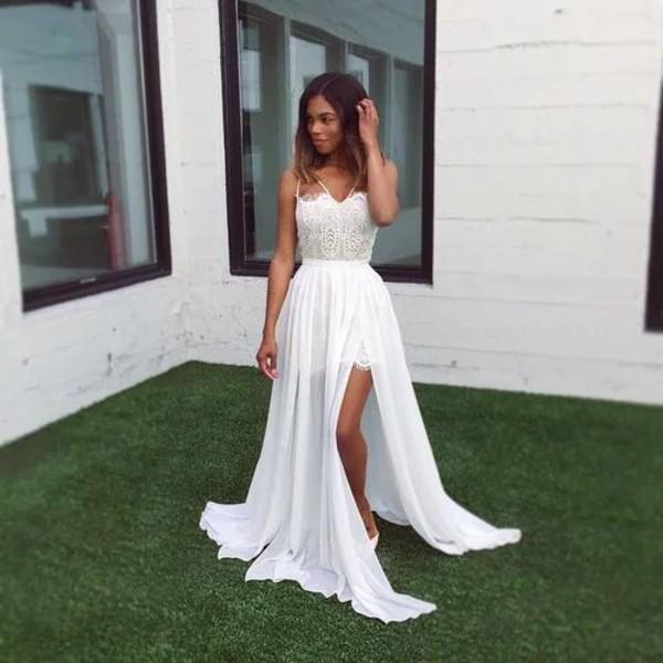 dress gorgeous pretty white long dress prom dress maxi dress