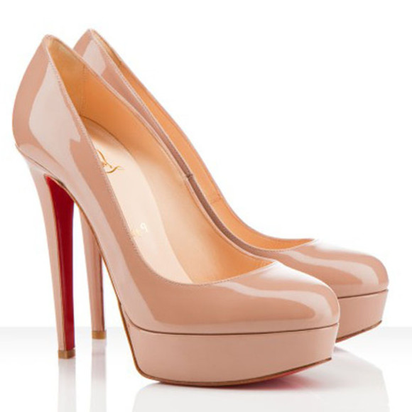 nude shoes pumps christian louboutin bianca double-platform pumps nude bianca double-platform shoeschristianlouboutinsales nude high heels