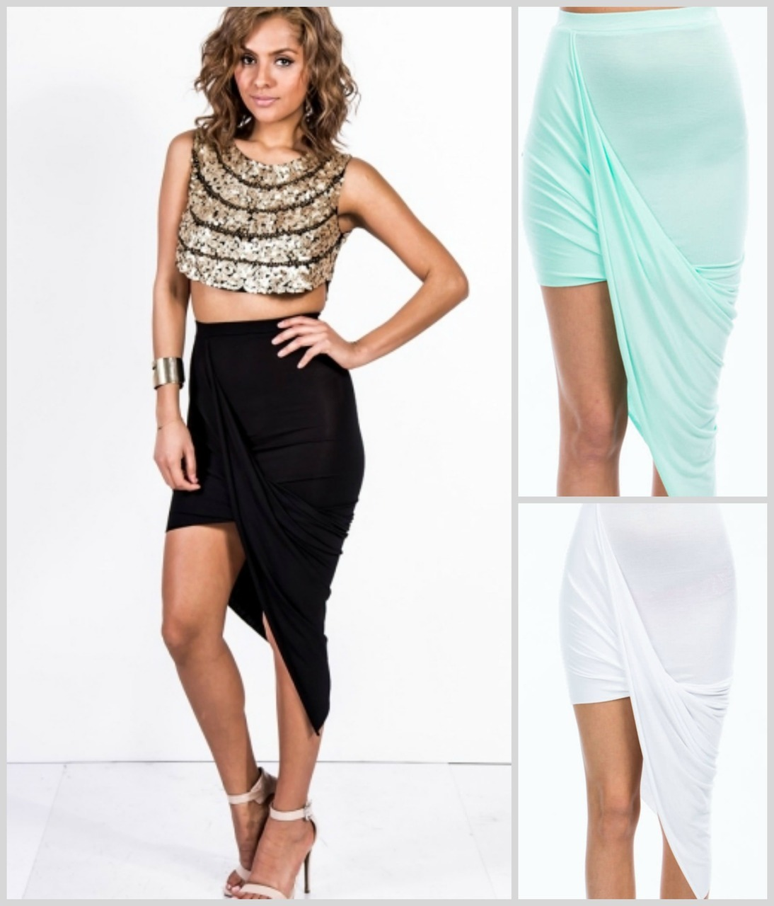 WRAPPED TO PERFECTION - ASYMMETRIC SKIRT
