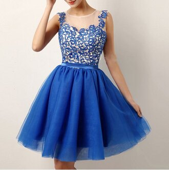 dress fashion style tule skirt blue prom organza embroidered ballerina