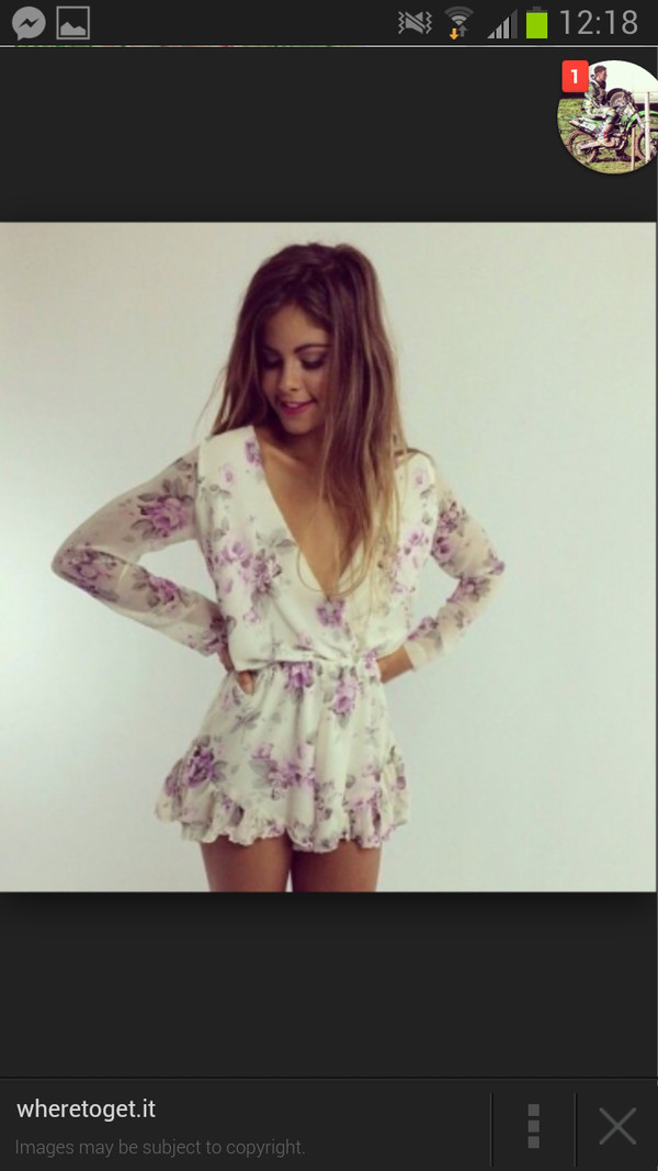 dress white purple playsuit