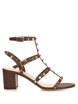 sandals leather sandals leather dark brown shoes
