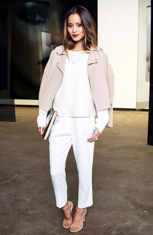 le fashion image blogger make-up jacket