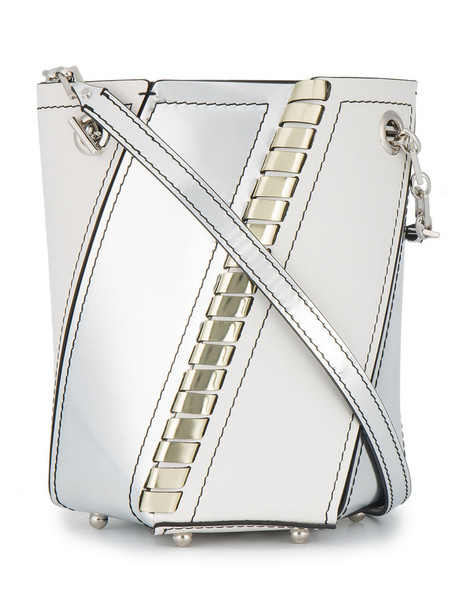 Proenza Schouler mini women bag bucket bag leather white