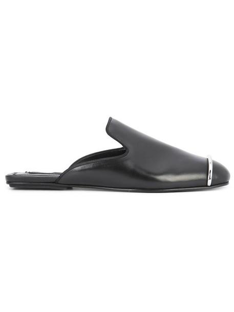 Alexander Wang women mules leather black shoes