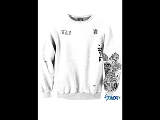 sweater tatoos justin bieber grey sweater