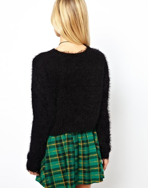 ASOS | ASOS Fluffy Crop Sweater at ASOS