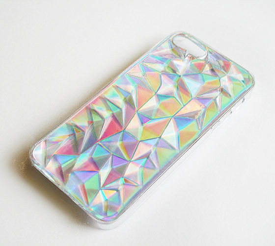 Iphone 5 / 5s holographic hologram iridescent 3d diamond ...