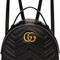 Gucci black gg marmont backpack