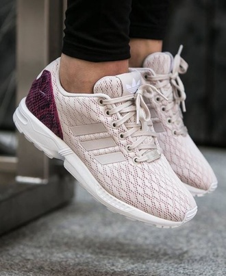 shoes athletic purple white adidas adidas shoes women low top sneakers adidas zx flux addias shoes nude sneakers sneakers