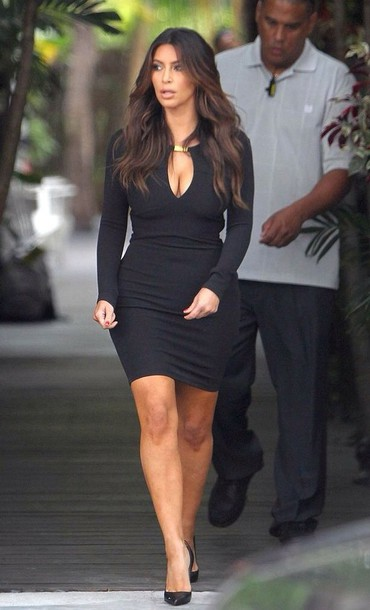 dress black keyhole dress kim kardashian knee length dress gold bar vue boutique