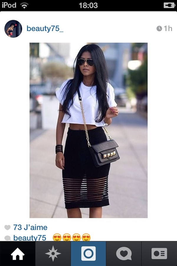skirt bag shirt style cute stylish