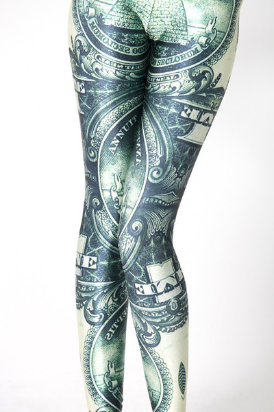 American Dollar Bill Print Leggings – Glamzelle