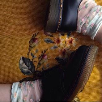 socks indie cute transparent socks kawaii kawaii socks aesthetic shoes doc martens boot black short