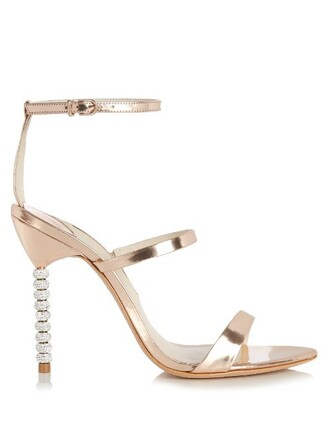 heel sandals leather sandals leather gold shoes