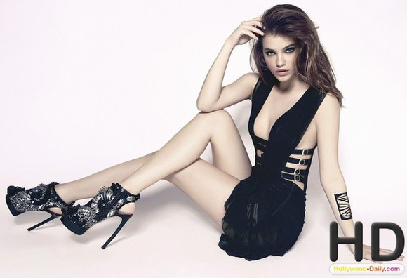 barbara palvin dress black sexy shoes shoe