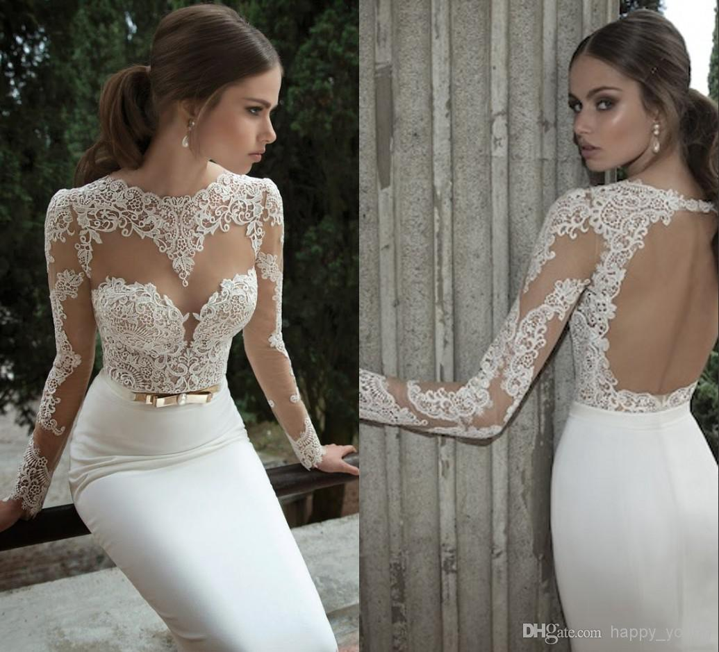 Cheap Wedding Veil - Discount 2014 Sheer Vintage Wedding Dresses Lace Appliqued Jewel Online with $107.9/Piece | DHgate