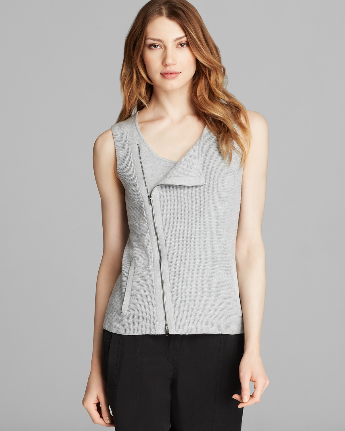 Eileen Fisher Zip Up Vest - Bloomingdale's Exclusive | Bloomingdale's