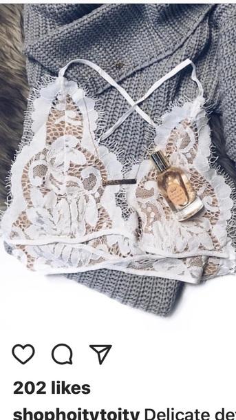 underwear lace bralette