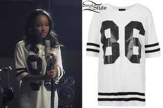 t-shirt little mix leigh-anne pinnock american football clothes topshop