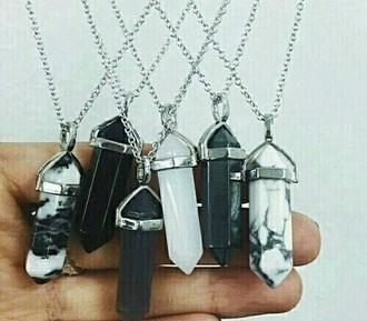 jewels tumblr necklace crystal quartz