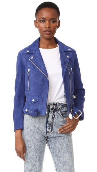 jacket bomber jacket dark blue suede dark blue