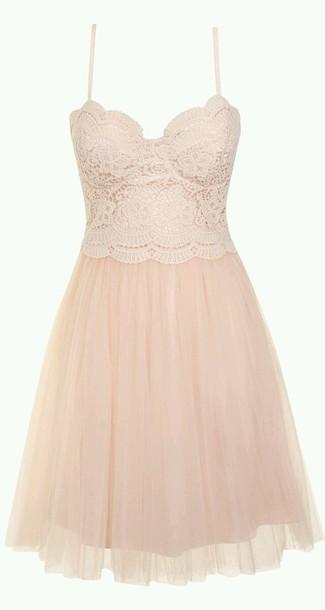 dress pink lace spagetti strap flowy dress