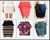 skirt,peplum skirts,color/pattern
