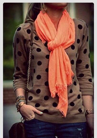 polka dots sweater