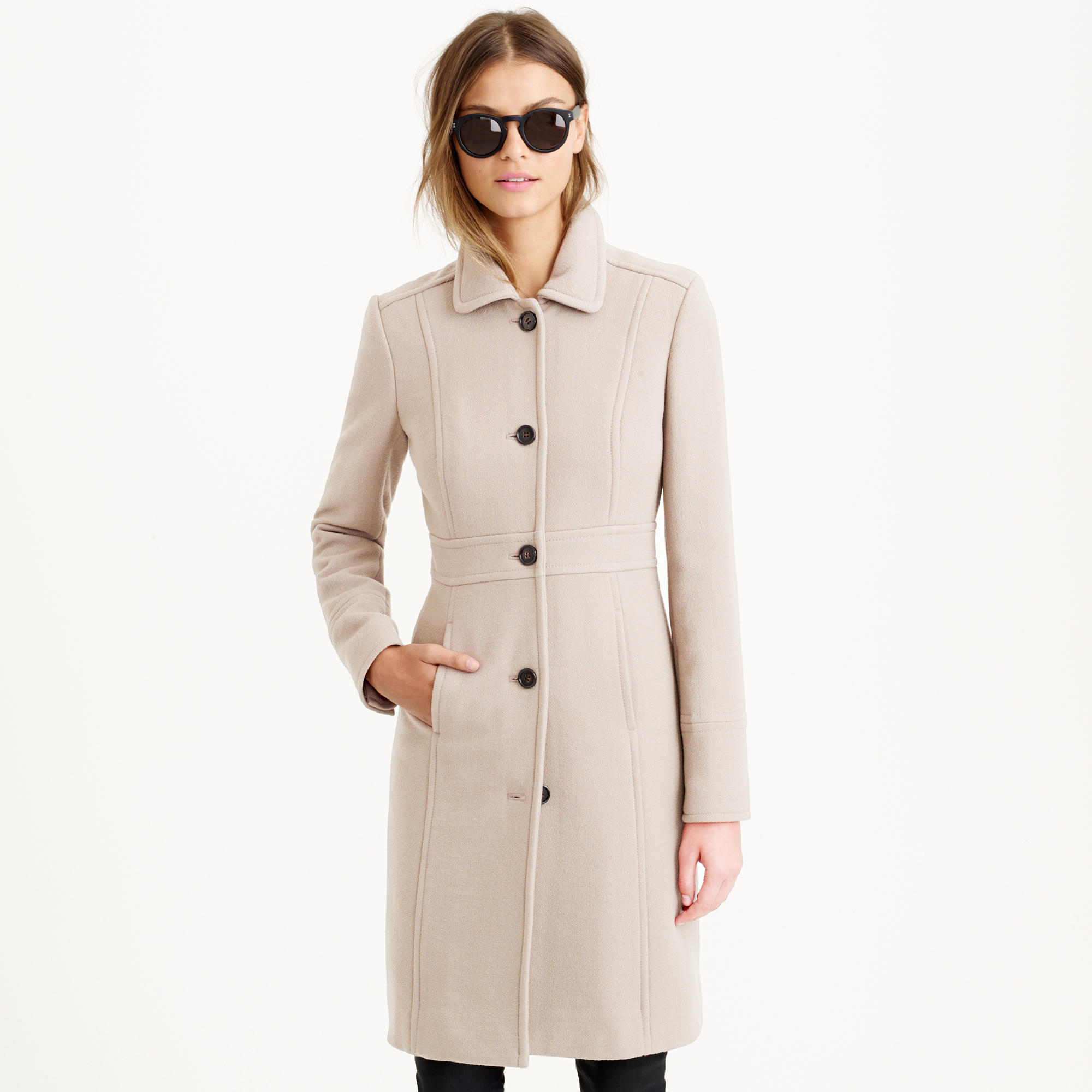 Double Cloth Lady Day Coat With Thinsulate