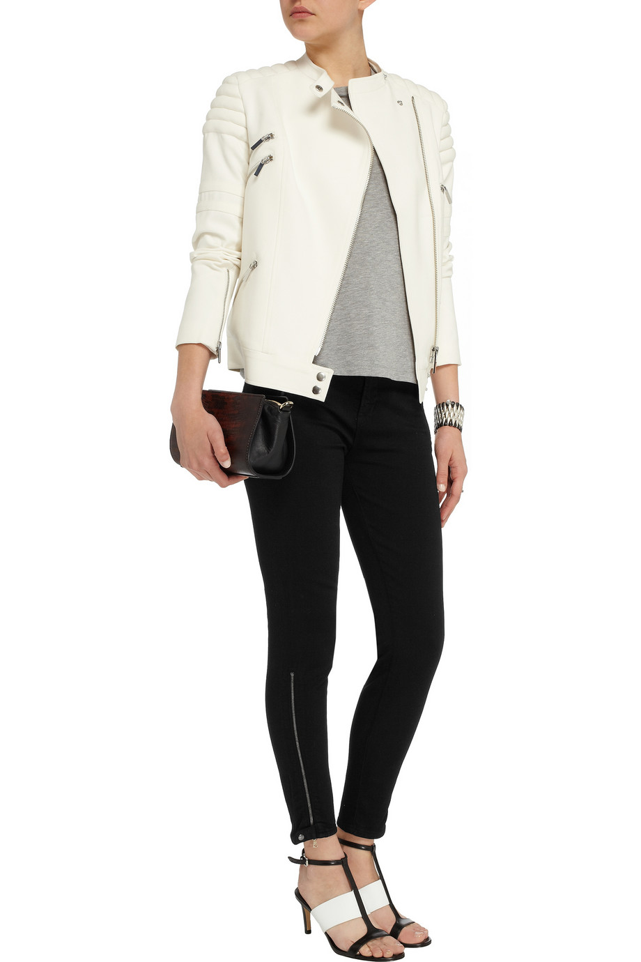 J Brand Carey mid-rise skinny jeans – 55% at THE OUTNET.COM