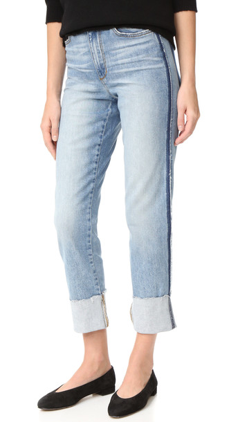 Joe'S Jeans Debbie High Rise Straight Ankle Jeans - Destructed Blue