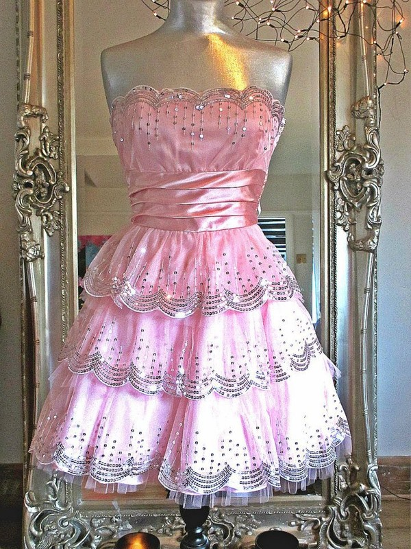 dress purpleroseboutique pink pink dress sequin dress party short party dresses prom dress glitter dress sparkle glitter sleeveless