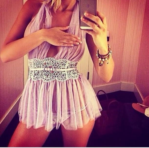 shirt underwear light pink night dress so sexy