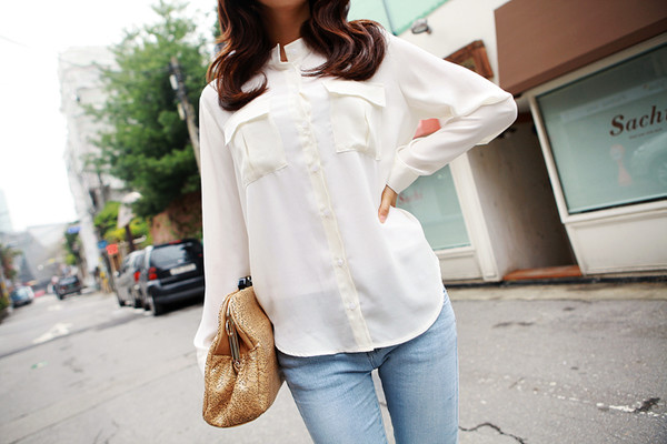 blouse pocket blouse