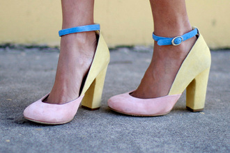 ombre shoes summer candy colours pastel medium heels