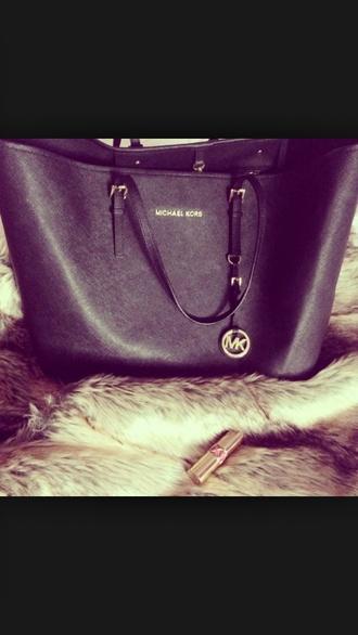 bag black purse tote bag cute leather bag leather black bag