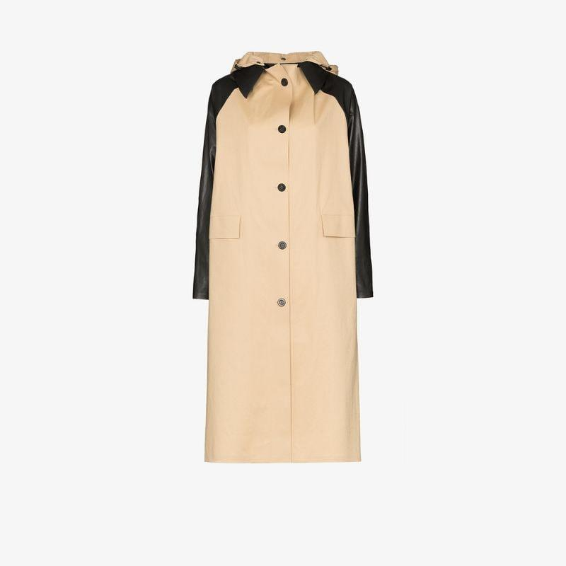 Kassl Editions contrast sleeve cotton trench coat