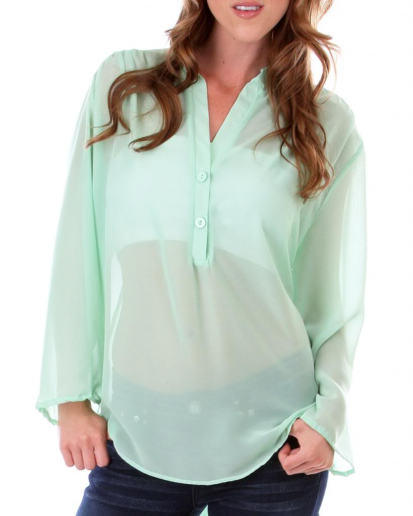 Sexy Sheer Hi Lo Chiffon Peach Top Plus Size XL 1x 2X Free Shipping | eBay