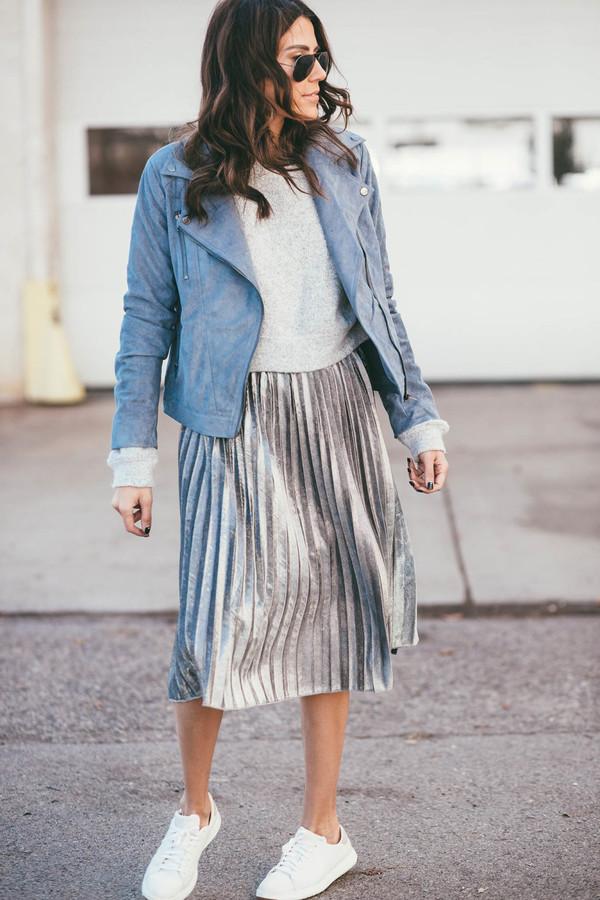 Skirt: tumblr, pleated skirt, metallic pleated skirt, metallic ...
