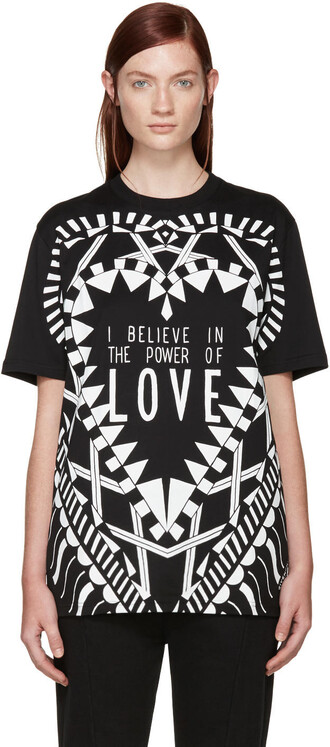 t-shirt shirt love black top