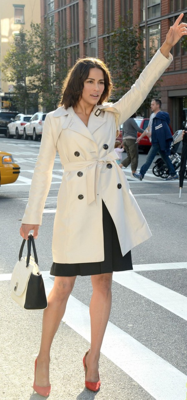 paula patton trench coat coat