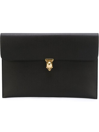 skull women clutch black bag